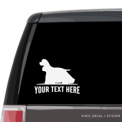 American Cocker Spaniel Car Window Decal