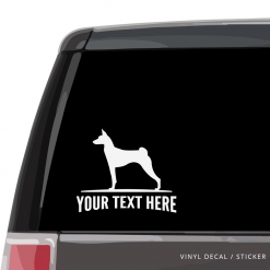 Basenji Car Window Decal