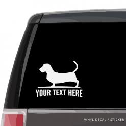 Basset Hound Car Window Decal