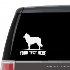 Belgian Shepherd Car Window Decal