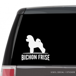 Bichon Frise Custom Decal