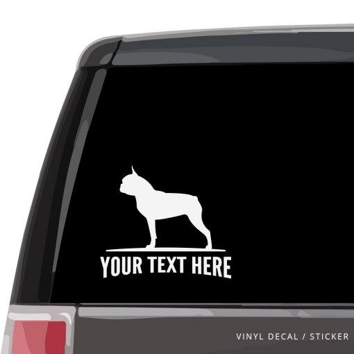 Boston Terrier Car Window Decal