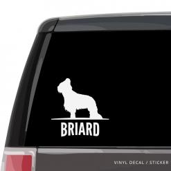 Briard Custom Decal