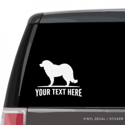 Caucasian Shepherd Car Window Decal