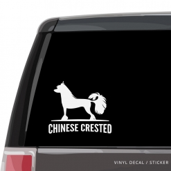 Chinese Crested Dog Custom Decal