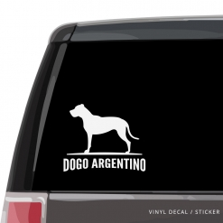 Dogo Argentino Custom Decal