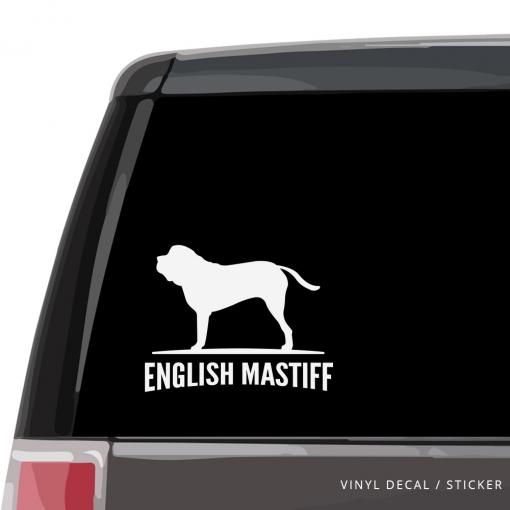 English Mastiff Custom Decal
