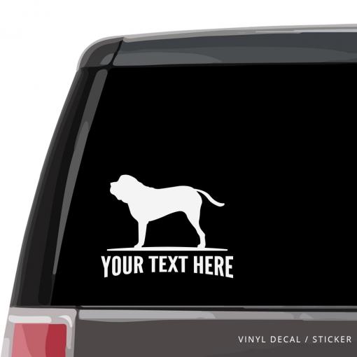 English Mastiff Car Window Decal
