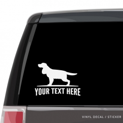 English Cocker Spaniel Car Window Decal