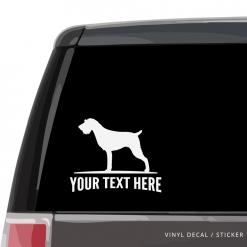 German Wirehaired Pointer Car Window Decal