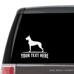 Great Dane Car Window Decal