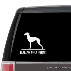 Italian Greyhound Custom Decal