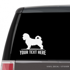 Maltese Car Window Decal