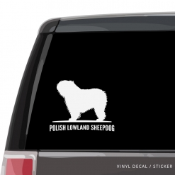 Polish Lowland Sheepdog Custom Decal