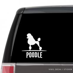 Poodle Custom Decal