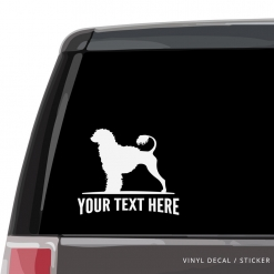 Portuguese Water Dog Car Window Decal