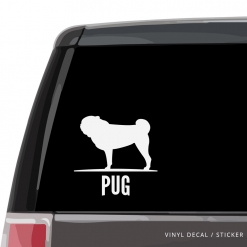 Pug Custom Decal