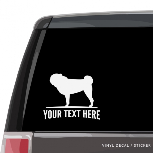 Pug Car Window Decal