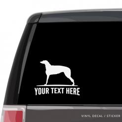 Scottish Deerhound Car Window Decal