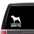 Shar Pei Custom Decal