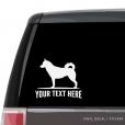 Siberian Husky Car Window Decal