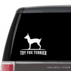 Toy Fox Terrier Custom Decal
