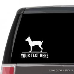 Toy Fox Terrier Car Window Decal