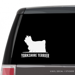 Yorkshire Terrier Custom Decal
