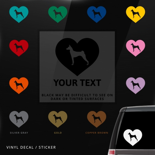 Basenji Heart Sticker