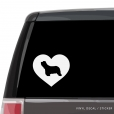 Bearded Collie Heart Custom Decal