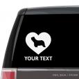 Bearded Collie Heart Car Window Decal