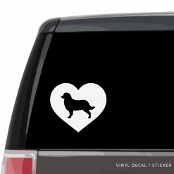 Bernese Mountain Dog Heart Custom Decal