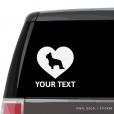 Briard Heart Car Window Decal