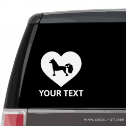 Chinese Crested Dog Heart Car Window Decal
