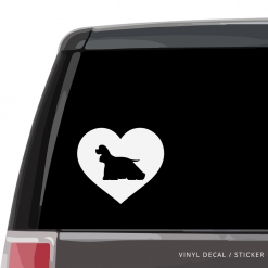 American Cocker Spaniel Heart Custom Decal