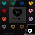 Coonhound Heart Sticker