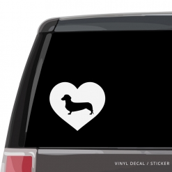 Dachshund Heart Custom Decal