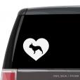 French Bulldog Heart Custom Decal