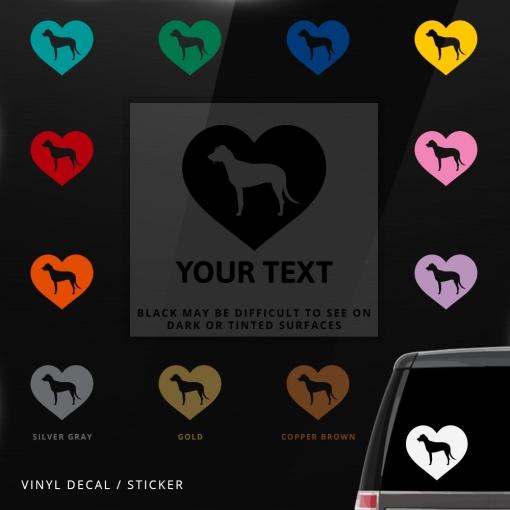 Irish Wolfhound Heart Sticker