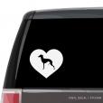 Italian Greyhound Heart Custom Decal
