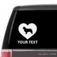 Newfoundland Heart Car Window Decal
