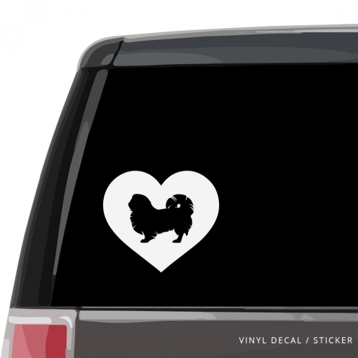 Pekingese Heart Custom Decal