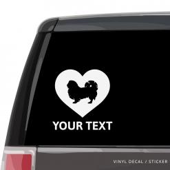Pekingese Heart Car Window Decal