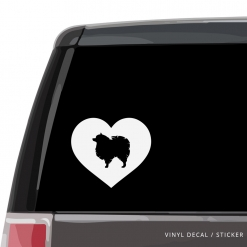 Pomeranian Heart Custom Decal