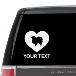 Pomeranian Heart Car Window Decal