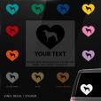 Borzoi Heart Sticker