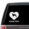 Borzoi Heart Car Window Decal