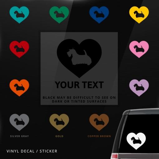 Scottish Terrier Heart Sticker