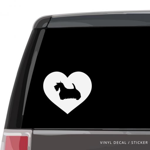 Scottish Terrier Heart Custom Decal