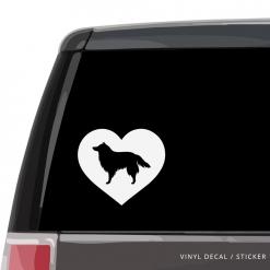 Shetland Sheepdog Heart Custom Decal